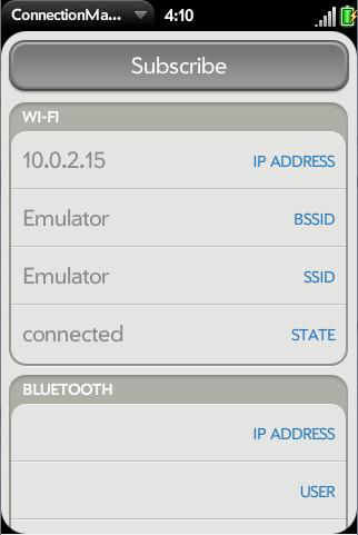 WebOS Connection Manager Test